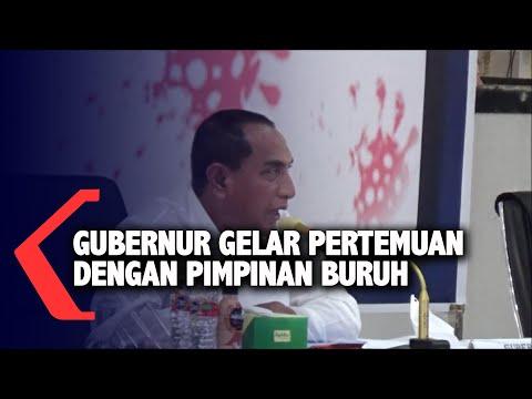 gubernur sumatera utara gelar pertemuan dengan pimpinan buruh