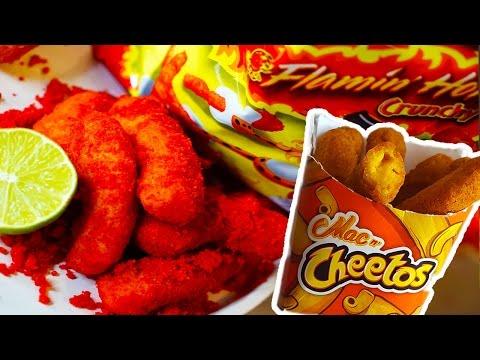 DIY Flamin'  HOT Burger King MAC n CHEETOS! Taste Test!!
