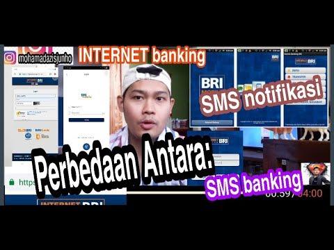 Perbedaan Antara SMS notifikasi, SMS banking, dan INTERNET banking di Bank BRI