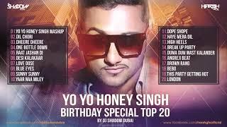 YO YO Honey Singh Birthday Special TOP 20   DJ Shadow Dubai Remixes   Audio Jukebox