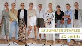 SUMMER STAPLES STYLING | 13 CAPSULE WARDROBE ITEMS STYLED 21 WAYS | LYDIA TOMLINSON