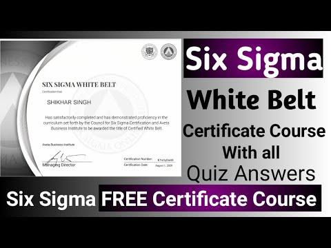 Six Sigma White Belt Training & Certification | Free Online Certification Courses| Six |SHIKHARSINGH