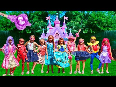 CASTILLO MAGICO 🏰 PRINCESAS DISFRACES DISNEY (DISNEY PRINCESS CASTLE)