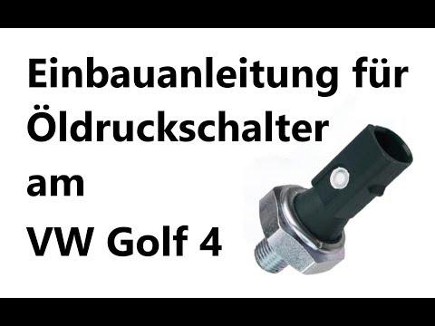 Ölverlust durch defekten Öldruckschalter am VW Golf 4