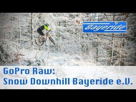 GoPro Raw - Schnee Downhill Trek Session 88 2017 - Bayeride e.V. Track GoPro 60 FPS 1080p