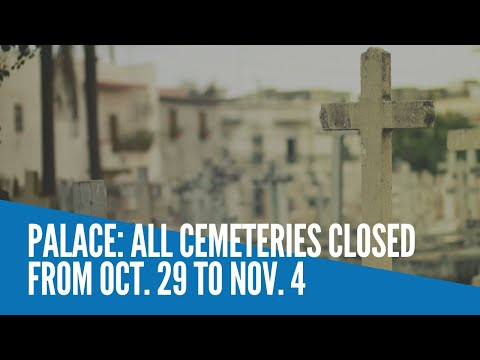 [Inquirer]  Palace: All cemeteries closed from Oct. 29 to Nov. 4