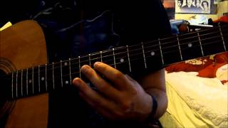 """3 Doors Down """"The Real Life"""" Lesson/Tutorial on guitar"""