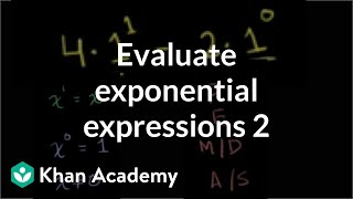 Evaluating exponential expressions 2