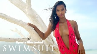 Lais Ribeiro Wears Nothing But Bikini Bottoms For Tree Photoshoot | Sports Illustrated Swimsuit