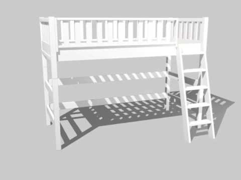 Dannenfelser Kindermöbel GmbH |  Multifunktions-Hochbett ROOMSTAR 160cm, weiss, umbaubar
