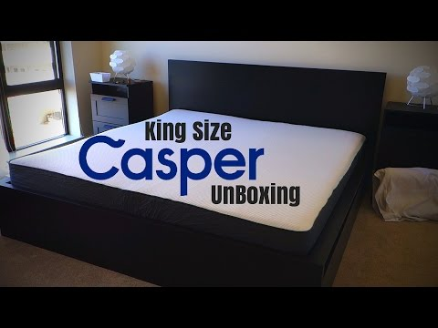 CASPER MATTRESS UNBOXING | KING SIZE | $75 Promo Code!
