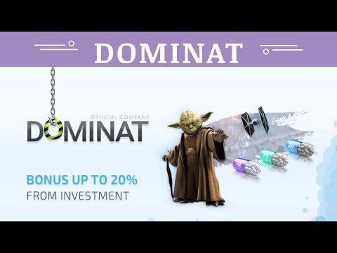 Dominat.company отзывы 2019, обзор, mmgp, Bounty, BONUS UP TO 20% FROM DEPOSIT