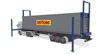 SLV Seitenlader Vertikales Absenksystem Container Side Loader, Hebevorrichtung