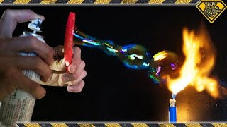 How Are These BUBBLES Catching FIRE? - Video Youtube
