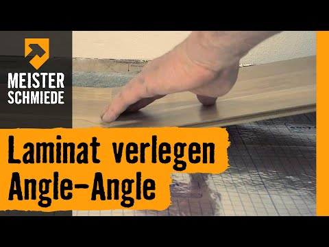 Laminat verlegen Angle-Angle | HORNBACH Meisterschmiede