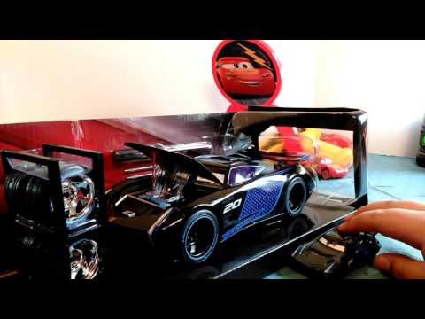 NEW Disney Cars 3 Jackson Storm 1:24 Scale Diecast With Tire Rack