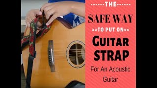 How To Attach a Guitar Strap To Acoustic Guitars **WITHOUT RISK YOUR GUITAR ** W/ Special Locks