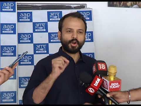 AAP Leader Ashish Khetan Briefs Media on CBI raid at Satyendra Jain's House