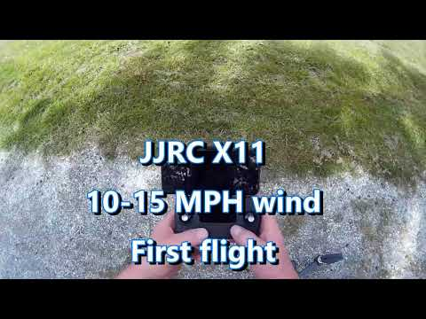 JJRC X11 from Banggood.com, first flight