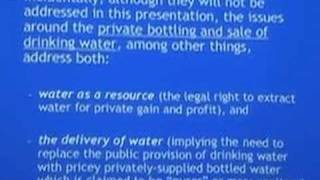 Tap Water Versus Bottled Water