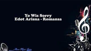 Yo Wis Sorry   Edot Arisna Romansa (Video Lyrics)