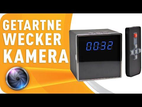 Spionagekamera in Tischuhr versteckt HD Bewegungserkennung Wecker getarnte Spionage Kamera