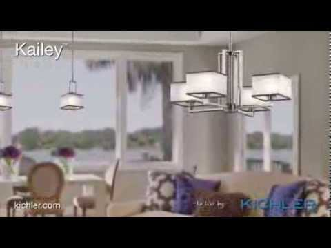 Video for Kailey Brushed Nickel Four Light Medium One Tier Chandelier