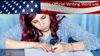 OFFICIAL US CITIZENSHIP WRITING VOCABULARY WORDS AND PRACTICE SENTENCES
