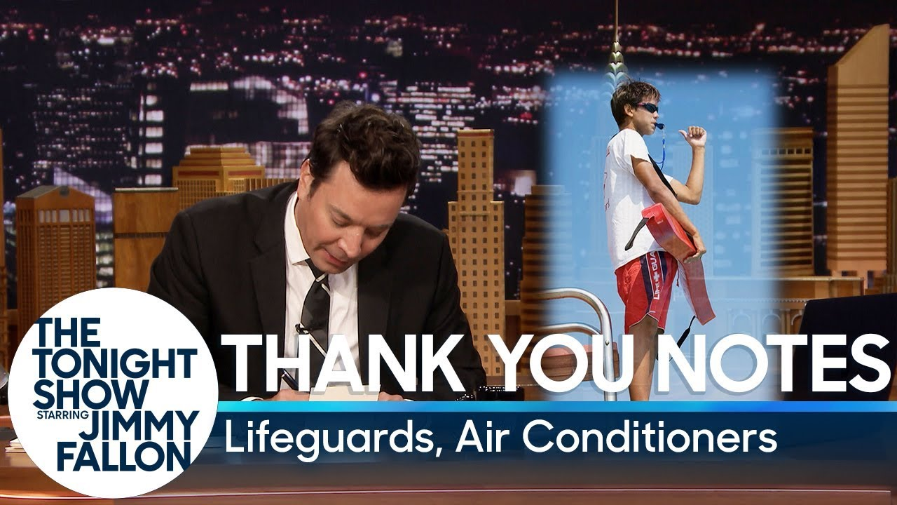 Thank You Notes: Lifeguards, Air Conditioners thumbnail