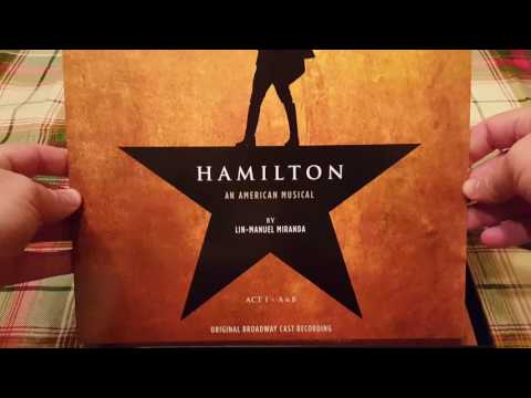Unboxing - Hamilton An American Musical Original Broadway Cast Recording Vinyl LP Box Set (552918-1)