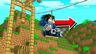 How to Build a WORKING ZIPLINE in Minecraft Tutorial! (NO MODS!)