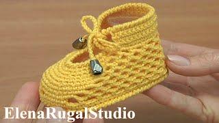 Crochet Shoes For Baby Tutorial 289 Sapatos De Crochê Para O Bebê