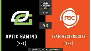 OpTic Gaming vs Team Reciprocity | CWL Pro League 2019 | Division A | Week 1 | Day 4