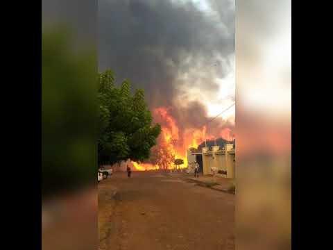 Incêndio de grande proporção chega perto de casas e assuta moradores de Gurupi