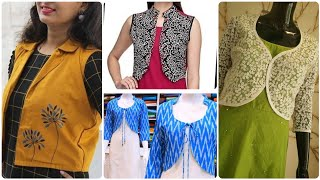 Stylish & Unique Cotton Dress With Jackets/Womens Jackets In 50+ Designs