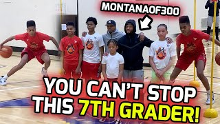 """7TH GRADE Jamel """"Magic Mel"""" Thomas Shows Out 1 v 1 In Front Of MONTANAOF300! Full Private Workout! 😤"""