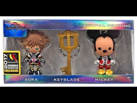 Kingdom Hearts Unboxing Y Review Summer Convention 2017 Figural Llavero Set Monogram En Espanol