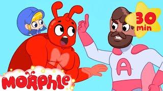 SUPERHERO MORPHLE VS MR ACTION My Magic Pet Morphle   Cartoons For Kids   Morphle   Mila and Morphle