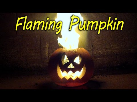 Halloween Special: How to Make a Flaming Pumpkin!