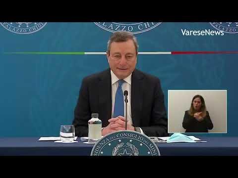 """Draghi annuncia riaperture dal 26 aprile: """"Attività all'aperto e scuole in presenza"""""""