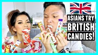 ASIANS TRY BRITISH CANDY