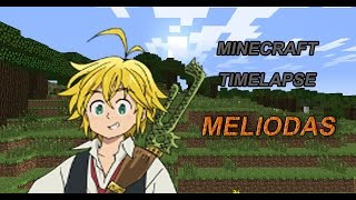Minecraft Pixel Art Timelapse Meliodas (The Seven Deadly Sins/Nanatsu No Taizai)