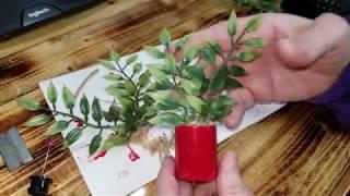 Push Pop Dollhouse Plant DIY