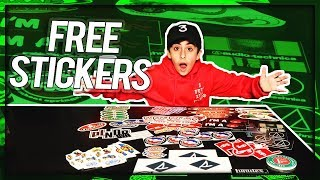 UNBOXING FREE STICKERS PART 4