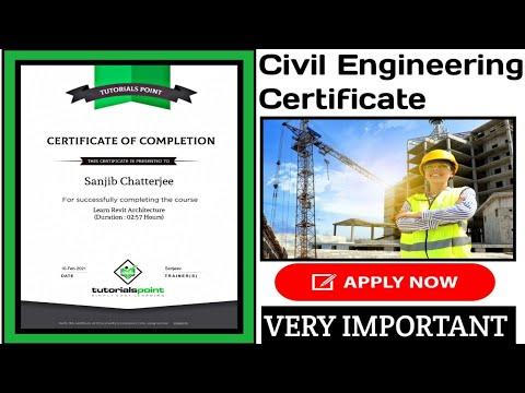 Civil Engineering Free Certification 2021| Civil Online ... - YouTube