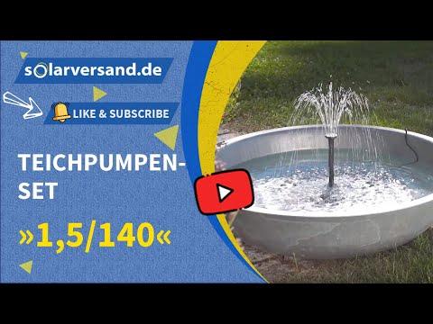 esotec Solar Teichpumpenset 1,5/140 - das perfekte Wasserspiel für den Miniteich und kleine Schalen