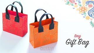 DIY Mini Gift Bag | Paper Gift Bag | Gift Ideas