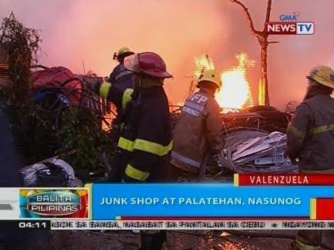 [GMA]  BP: Junk shop at palatehan, nasunog