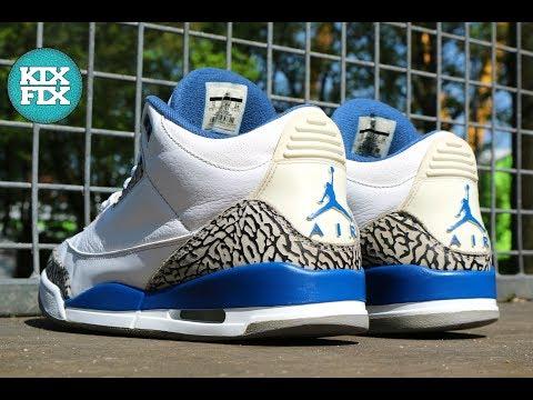 ed783d58cf42 ... promo code nike air jordan 3 true blue full restoration 11 kixfix 22a4e  26581