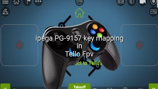 Ipega PG-9157 key mapping setup in Tello FPV app using ShootingPlus V3 app for Ryze Tello Drone